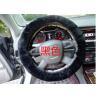 Buy cheap Black Genuine Sheepskin Steering Wheel Cover With Australia Pure Wool from wholesalers