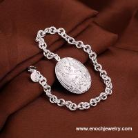 China Supplier Wholesale 925 Silver Plated Charms Bracelet 2014 For Women