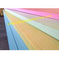 Quality Yellow / Blue / Green / Pink Styrofoam Insulation Sheets With Waterproof Package wholesale