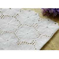 Best Swiss Voile 100% Cotton Lace Fabric , Embroidery Guipure Lace Fabric For Lady Dress wholesale