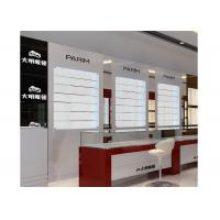 Best Eyeglasses Shop Glass Display Wall Cabinet With LED Light , Jewellery Display Cabinets wholesale