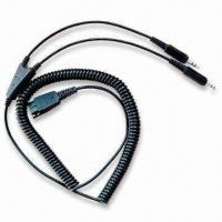 China Telephone Headset to PC Sound Card Adapter Cord, handset cords on sale