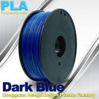 Best Dark Blue PLA 3D Printer Filament With 1KG / Roll , Good Performance Of Electroplating wholesale