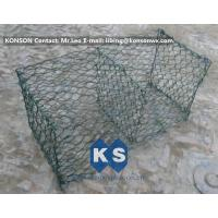 Best Hexagonal Mesh PVC Gabions , Welded Coated Galvanized Gabion Baskets wholesale