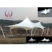 Quality Cable Membrane Patio Shade Structures , Steel Roof Contemporary Shade Structures For Square wholesale