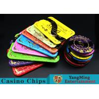 Best Crystal Acrylic Casino Poker Chips With Mesh Bronzing Silk Screen wholesale