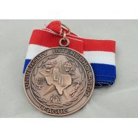 Best University Ribbon Medals , Die Casting , 3D And Antique Copper Plating For Gift wholesale