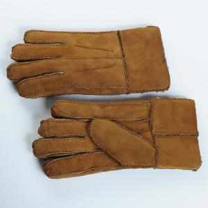 Best men sheepskin Double face gloves wholesale