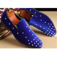 Best Red Velvet Punk Style Rivet Loafer Slip On Shoes Lightweight For Spring , Summer wholesale