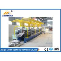 Best 2018 new type PLC Control Full Automatic Shutter Door Guide Roll Forming Machine yellow color wholesale