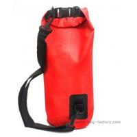 15L Durable Plastic Roll Top Dry Bag Removale Shoulder Strap For Outdoor Research