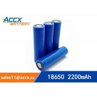 Best miner lamp battery rechargeable 18650 2200mAh 3.7V cell battery UN38.3, MSDS wholesale