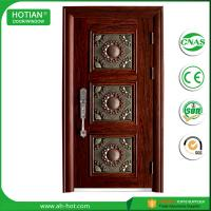 Best Anti-theft Single Leaf Iron Steel Metal Entry Door Popular For Luxury Villa Gate wholesale