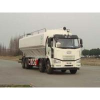 Best FAW 8*4 J6M 40cbm bulk granulated feed transportation truck for sale, best price FAW brand 20tons-25tons feed truck wholesale