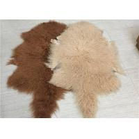 "Best Real Grey Mongolian Sheepskin Rug 20""X35"" For Home Sofa Throw Covers wholesale"