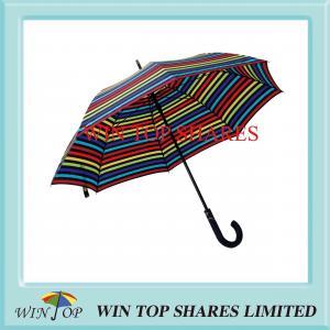 China Superior Stripe Design Auto Patent Gift Umbrella on sale