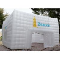 Best Large White Inflatable Cube Tent 420 D Oxford Cloth Apply To Trade Show wholesale