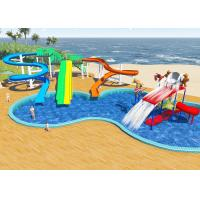 Best Swimming Pool Water Park Design / Constrction , Holiday Resort Water Slide Design wholesale