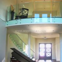 Frameless Tempered Glass Standoff Railing For Balcony / Staircase Standoff