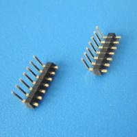 Buy cheap OPPOSITE INSULATOR Connector strip 1*40-pin Single row 2.54mm Male Right Angle Pin HEADER from wholesalers