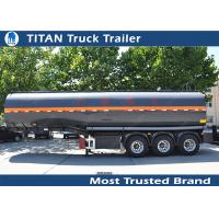 China Carbon steel Insulated heavy oil bitumen asphalt tank trailer with 3 axles on sale