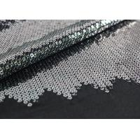 Best Embroidered Mesh Lace Fabric With Silver Sequin , Bridal Lace Fabric By The Yard wholesale