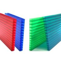 Best 16mm Fourwall Colored Hollow Polycarbonate Sheet Ten Years Guarantee wholesale