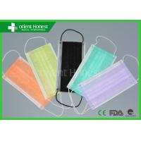 China Non Woven Colored Dental Disposable Face Masks Earloops Surgical Mask on sale