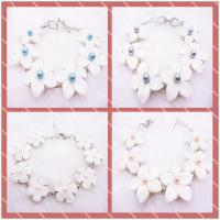 Best 7.5 Inches Natural White Bracelet Handmade Shell Jewelry Making For Women wholesale
