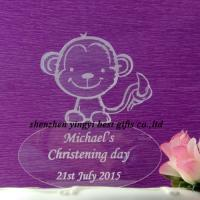 China Wholesale Engraved Acrylic Personalised cake toppers decorations on sale