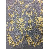 Best Bridal Embroidered Tulle Fabric / Mesh Lace Fabric With Colorful Flowers 100% Polyester wholesale