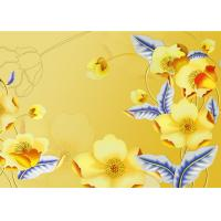 Buy cheap Yellow Color Not Deformed Interior Wall Panels Tv Background Easy To Clean from wholesalers