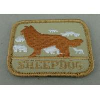 China Eco Friendly Custom Embroidery Patches with Polyester yarn / Cotton Yarn metallic thread on sale