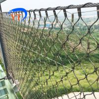 Best Seamless Ferruled 1.5 mm wire rope 60 mm eye size balustrade security wire rope mesh net wholesale