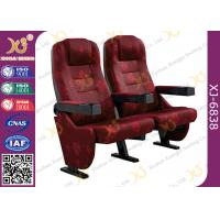 China Strong Durable 3D Movie Theater Chairs Floor Fixed With Folding Cupholder on sale