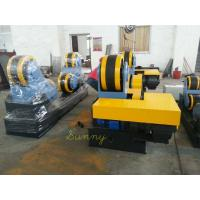 Yellow Self-Aligning Pipe Turning Rolls , 3KW Motor Drive Rubber Wheel