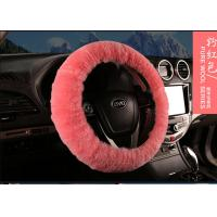Thick Pile 14 Inch Steering Wheel Cover , Girly Steering Wheel Covers For