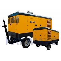 China Yellow Color Diesel Screw Air Compressor 2600*1800*1820MM Size For Rock Drills on sale