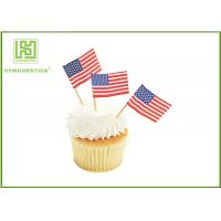 Best Colorful Food Grade Cake Decoration Toppers Flag Food Picks For Holidays wholesale