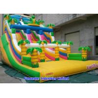 Best Tropical Jungle Inflatable Outdoor Toys 7mx4mx5m Huge Space For Children wholesale