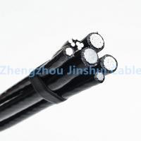 Cheap Overhead Line Fittings Xlpe Power Cable , 70mm / 50mm 4 Core Insulated Aluminum Wire for sale