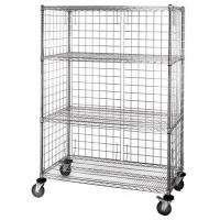 Best 4 - Tier Wire Shelving Unit / Durable Organizer Metal Storage Rack wholesale
