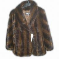 Best Faux Fur Coat, Made of Acrylic Material with Warm and Good Hand Feeling wholesale