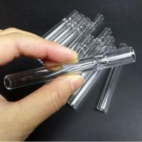 Best Unbreakable Glass Chillum Pipe / All Clear Glass Water Pipe For Men wholesale