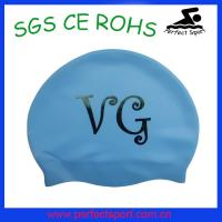 Best 2015 fashion new High Quality Silicone Swimming Cap with customers' Logo Design wholesale