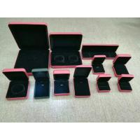 Best Luxury Gift Jewelry Plastic Box Exterior Leather Customized Size For Shopping Mall wholesale