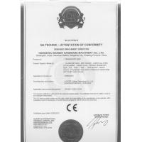Hangzhou Sansen Hardware Machinery Co.,Ltd. Certifications