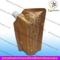 Best side spout pouch packaging for drink, bottom gusset bag wholesale