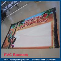 Cheap Single Side PVC Banner Printing with Grommets for sale