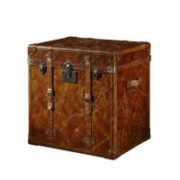 China Brown Leather Storage Trunk Plywood Frame 0.275CBM Volume Without Drawers Storage on sale